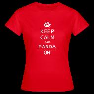 T-shirts ~ Vrouwen T-shirt ~ Panda On Vrouwen T-Shirt