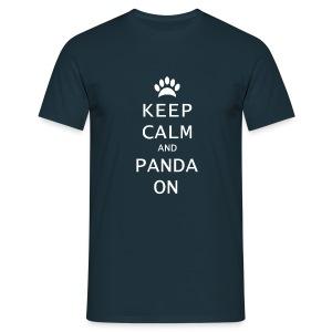 Panda On Mannen T-Shirt - Mannen T-shirt