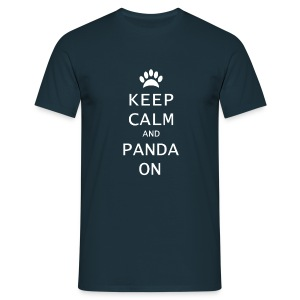 Panda On Mannen T-Shirt - Mannen T-shirt