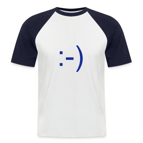 Keep Smiling für Ihn - Männer Baseball-T-Shirt