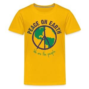 People's Earth - Teenager T-Shirt Unisex - Teenager Premium T-Shirt