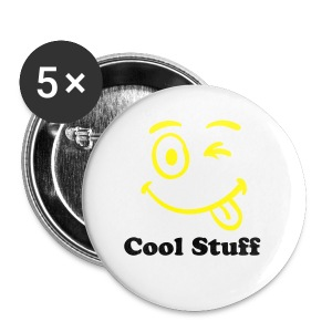 Medium Cool Stuff Badge Buttons Smiley Face - Buttons medium 32 mm