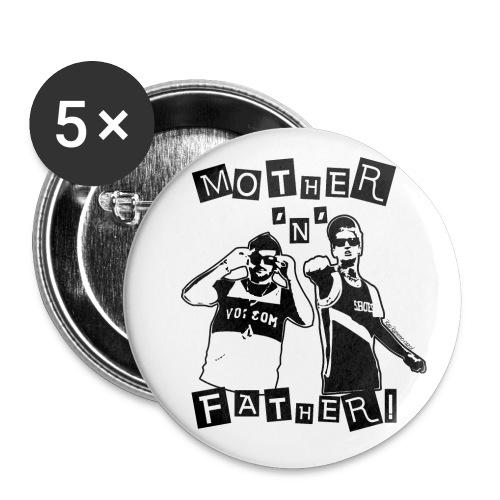Spilla 56 mm Mother'n'Father - Confezione da 5 spille grandi (56 mm)
