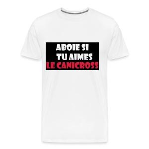 aboie si tu aimes le canicross - T-shirt Premium Homme