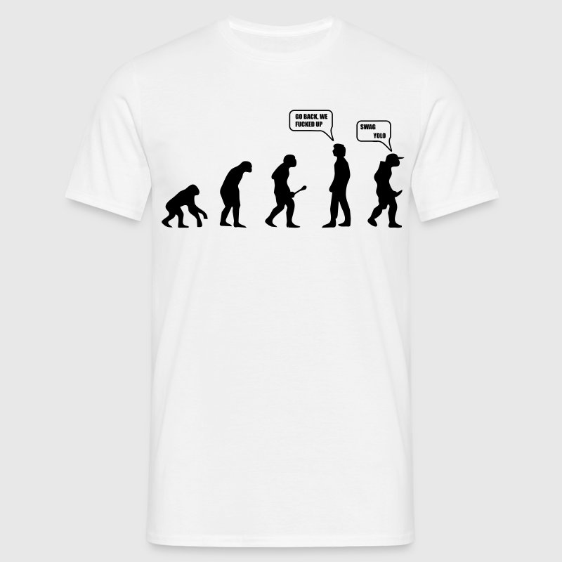 Swag Yolo Evolution T-shirts - Herre-T-shirt