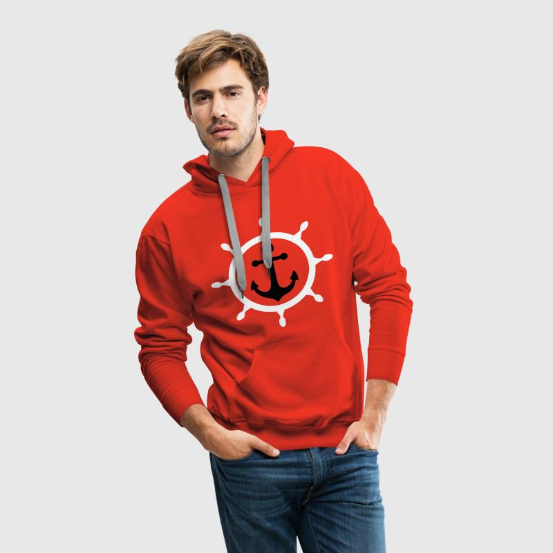 ancre marine 3 Sweat-shirts - Sweat-shirt à capuche Premium pour hommes