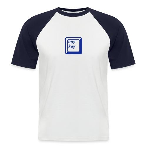 Any Key Shirt für Ihn - Männer Baseball-T-Shirt