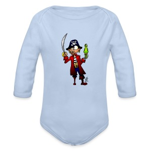 Baby Long Sleeve One Piece Pirate - Longsleeve Baby Bodysuit