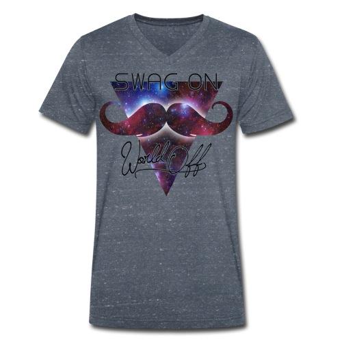 SWAG ON (M) - Økologisk T-skjorte med V-hals for menn fra Stanley & Stella