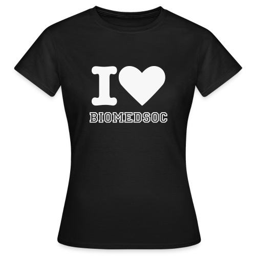 I Love BioMedSoc (Ladies) - Women's T-Shirt