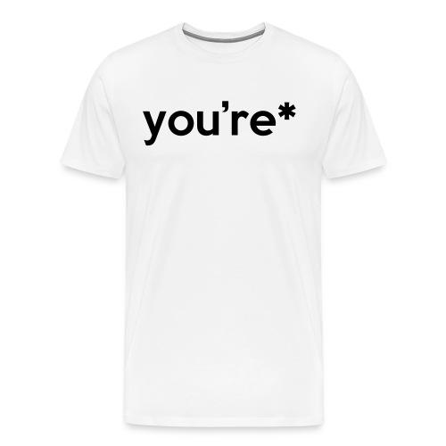 Correction - Premium T-skjorte for menn