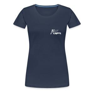 AERODYNE bleu logo rétro - T-shirt Premium Femme