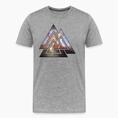 Cosmic Geometric Triangles T-Shirts