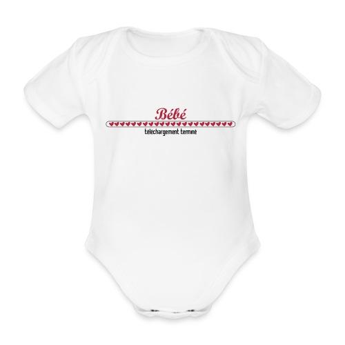 Bébé ... téléchargement terminé - Body bébé bio manches courtes