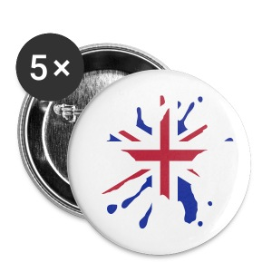 Large Badge Button English Splat - Buttons large 56 mm