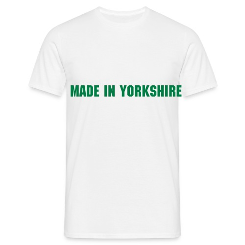 Made In Yorkshire (White) - Men's T-Shirt