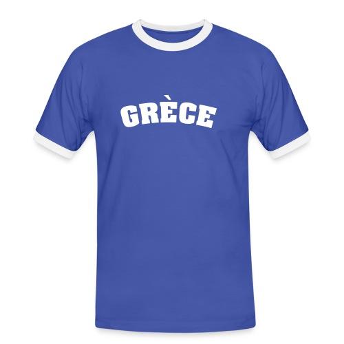 Retro-Soccer-Shirt Grèce - T-shirt contrasté Homme