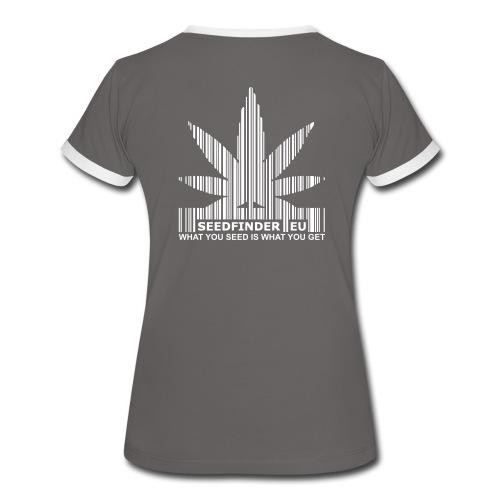 SeedFinder.eu Girlie Kontrast-Shirt - Frauen Kontrast-T-Shirt