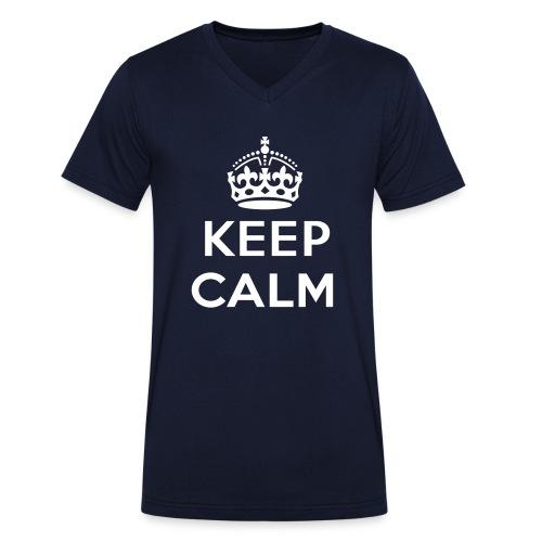 Keep Calm - Maglietta Uomo manica corta collo V  - T-shirt ecologica da uomo con scollo a V di Stanley & Stella