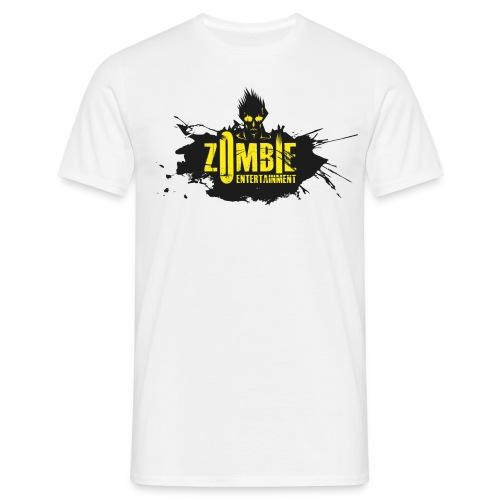 Zombie Entertainment Shirt! (Logo Schwarz-Gelb) - Männer T-Shirt
