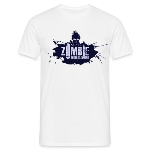 Zombie Entertainment Shirt! (Logo Blau-Blau) - Männer T-Shirt