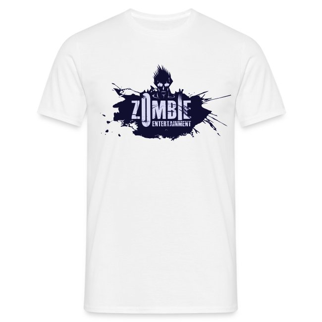 Zombie Entertainment Shirt! (Logo Blau-Blau)