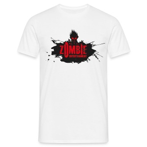 Zombie Entertainment Shirt! (Logo Schwarz-Rot) - Männer T-Shirt