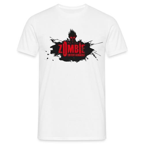 Zombie Entertainment Shirt! (Logo Schwarz-Rot) - Männer T-Shirt