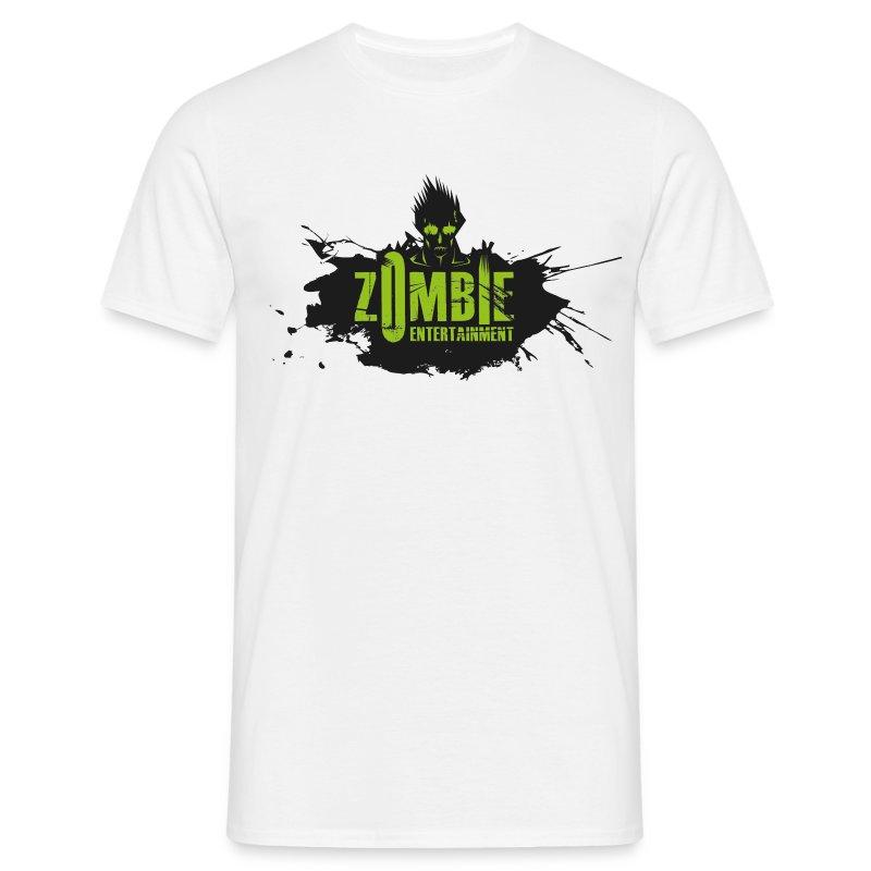 Zombie Entertainment Shirt! (Logo Schwarz-Grün) - Männer T-Shirt
