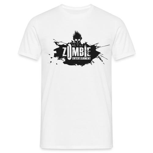 Zombie Entertainment Shirt! (Logo Schwarz-Weiß) - Männer T-Shirt
