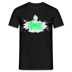 Zombie Entertainment Shirt! (Logo Weiß-Neongrün) - Männer T-Shirt