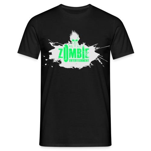 Zombie Entertainment Shirt! (Logo Weiß-Neongrün) - Männer T-Shirt