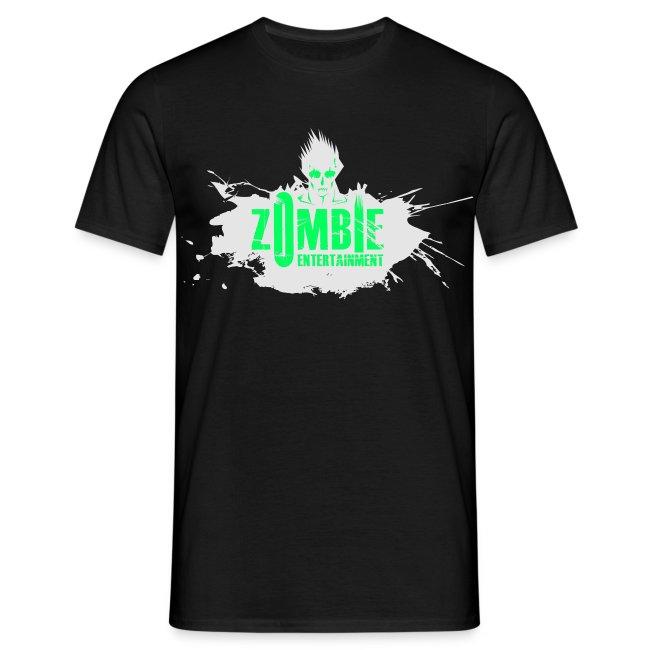 Zombie Entertainment Shirt! (Logo Weiß-Neongrün)