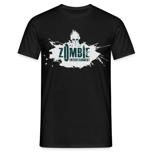 Zombie Entertainment Shirt! (Logo Weiß-Dunkelgrün) - Männer T-Shirt