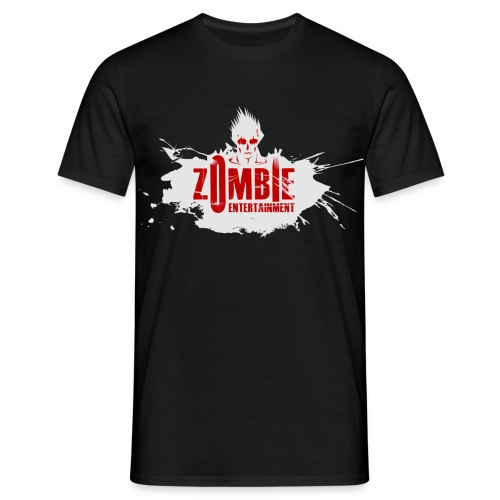 Zombie Entertainment Shirt! (Logo Weiß-Rot) - Männer T-Shirt