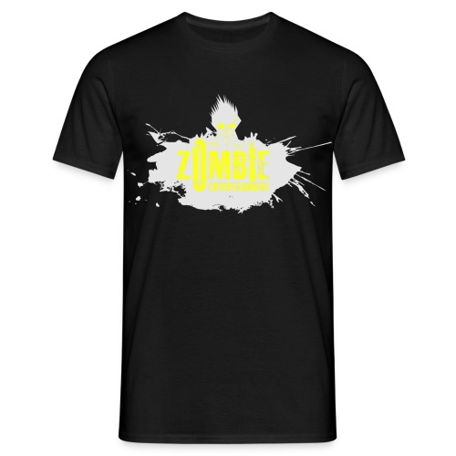 Zombie Entertainment Shirt! (Logo Weiß-Neongelb) - Männer T-Shirt