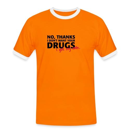 t-shirt  2coloris - T-shirt contrasté Homme