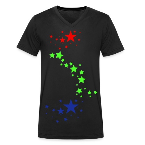 Stars ( A&S Fashion ) - Männer Bio-T-Shirt mit V-Ausschnitt von Stanley & Stella