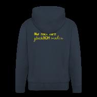 Pullover & Hoodies ~ Männer Premium Kapuzenjacke ~ Herren Kapuzenjacke Motto 2013 gelb