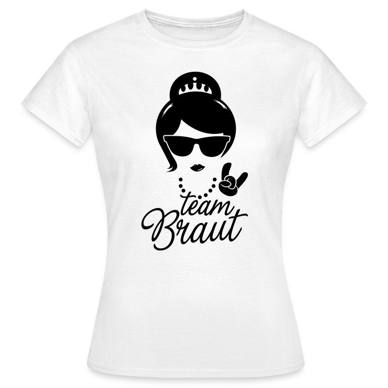 Team bride braut jga hochzeit stag do polterabend t shirt for Jga t shirt sprüche