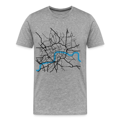 London Shirt grau - Männer Premium T-Shirt