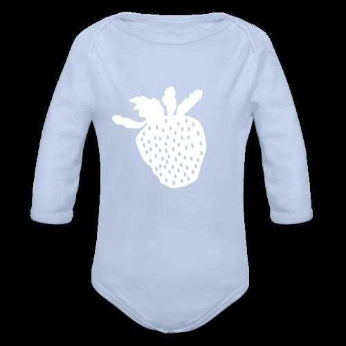 Erdbeershirt - Baby Bio-Langarm-Body