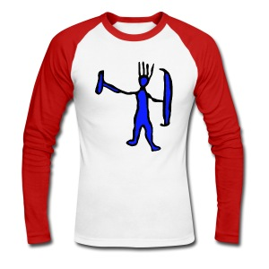 M-aaarghhh! the troglodyte - Men's Long Sleeve Baseball T-Shirt