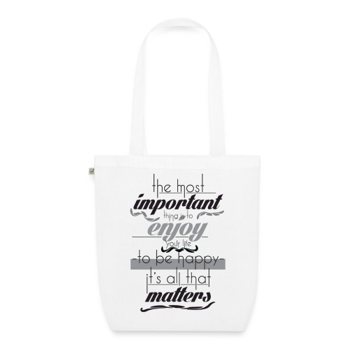 Important things - EarthPositive Tote Bag