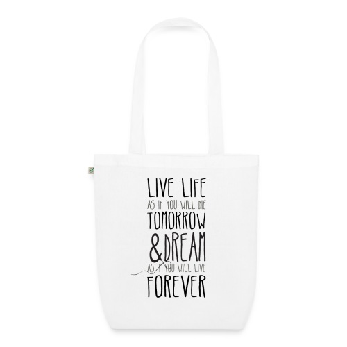 Live life - EarthPositive Tote Bag
