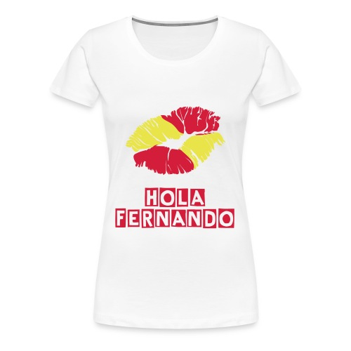 Flag/Kiss Tee White - Women's Premium T-Shirt