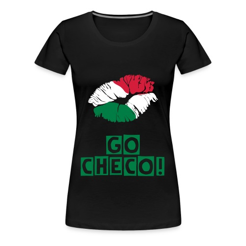 Flag/Kiss tee Checo - Women's Premium T-Shirt