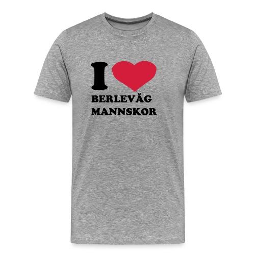 Jeg  elsker berlevåg - Premium T-skjorte for menn