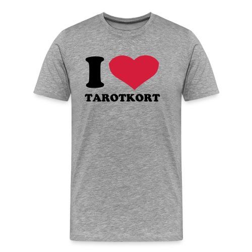 Jeg  elsker tarotkort - Premium T-skjorte for menn