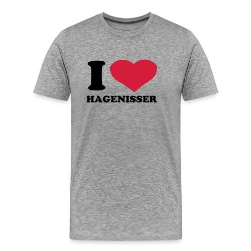 Jeg  elsker hagenisser - Premium T-skjorte for menn